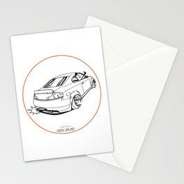 Crazy Car Art 0221 Stationery Cards