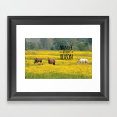 Wander Without Reason Framed Art Print