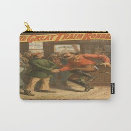 Vintage poster - The Great Train Robbery Carry-All Pouch