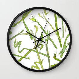 Scattered Bamboos Wall Clock