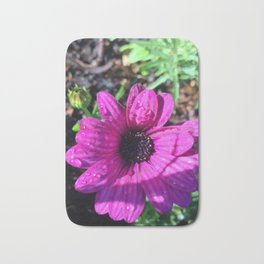 Summer Purple Flower Bath Mat