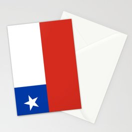 flag of Chile- -Spanish,Chile,chilean,chileno,chilena,Santiago,Valparaiso,Andes,Neruda. Stationery Cards