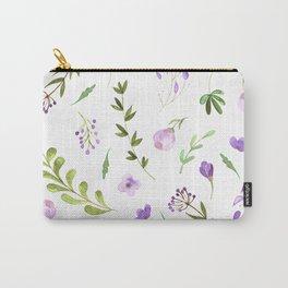 Purple Flower Field Carry-All Pouch