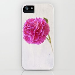 Carnation on paper iPhone Case