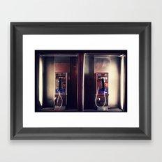 Pay Phone I Framed Art Print