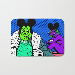 PIMPIN'.  (Mouseketeer).  (On Blue). Bath Mat
