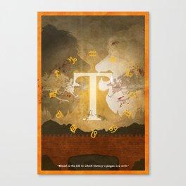 Vintage FF Poster: Final Fantasy Tactics Canvas Print