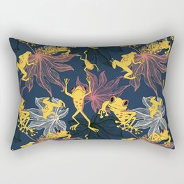 Happy Yellow Frogs Rectangular Pillow