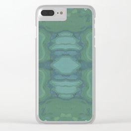 Art Nouveau Green Panel Clear iPhone Case
