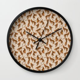 Cheetah Fashionista Wall Clock