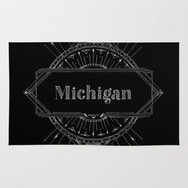 Black Art Deco Michigan Rug