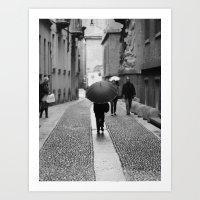 umbrella Art Prints featuring Umbrella by TOM MARGOL