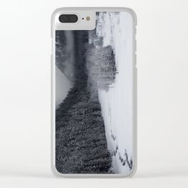 Snowy Morning Clear iPhone Case