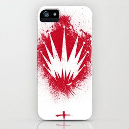 K.Z. Logo v2 - Red Abstract iPhone Case