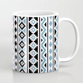 Aztec Essence Pattern II Light Blue Black White Coffee Mug