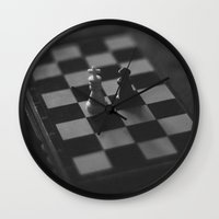 chess Wall Clocks featuring Chess by Anomaly Studio