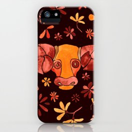 Bold Aries flower pattern iPhone Case