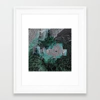 grid Framed Art Prints featuring Grid by Leanne Miller