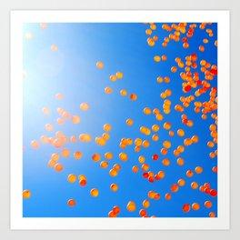 Clemson balloons Art Print