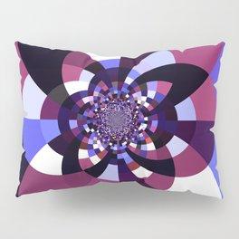 Purple Magenta Periwinkle Kaleidoscope Mangala Pillow Sham