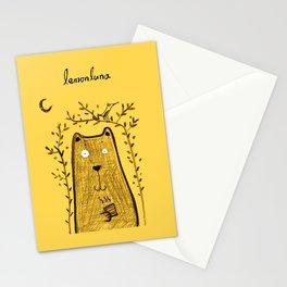 tea bear Stationery Cards