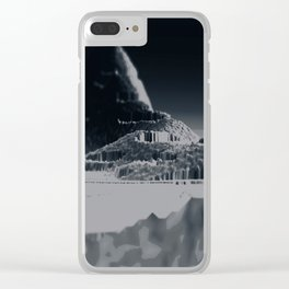 Mountain landscape illustration painting Clear iPhone Case