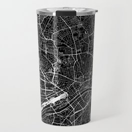 Frankfurt Black Map Travel Mug