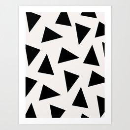 black triangle pattern II Art Print