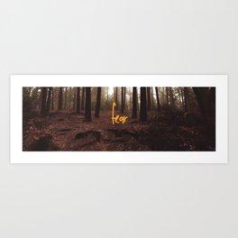 Fear & Woods Art Print