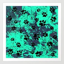 Paw Print Art Print