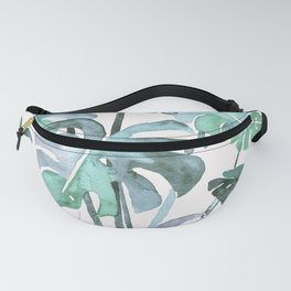 Delicate Monstera Blue And Green #society6 Fanny Pack