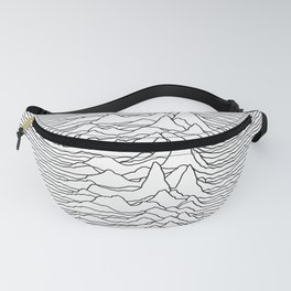 Unknown Pleasures - White Fanny Pack
