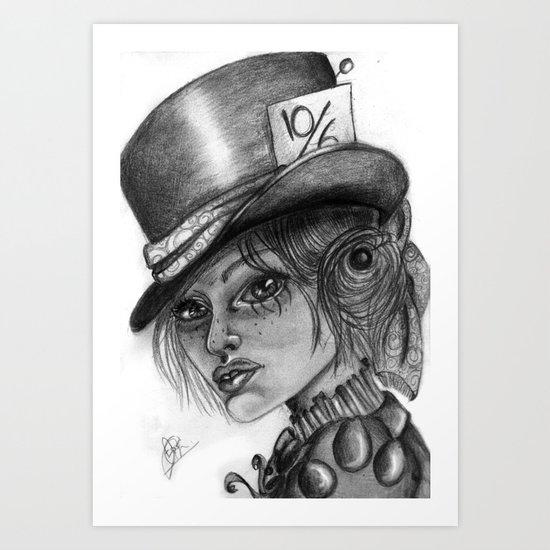The Mad Hatress Art Print