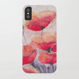 Breathy Poppies iPhone Case