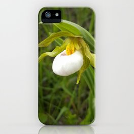 Small White Lady's Slipper iPhone Case