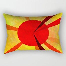Gold Fuchsia Darkmagenta Sun Rectangular Pillow