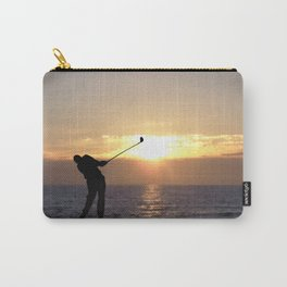 Playing Golf At Sunset Carry-All Pouch