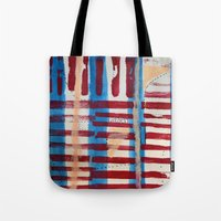 coasters Tote Bags featuring Popsicles and Roller Coasters by Lauren Packard