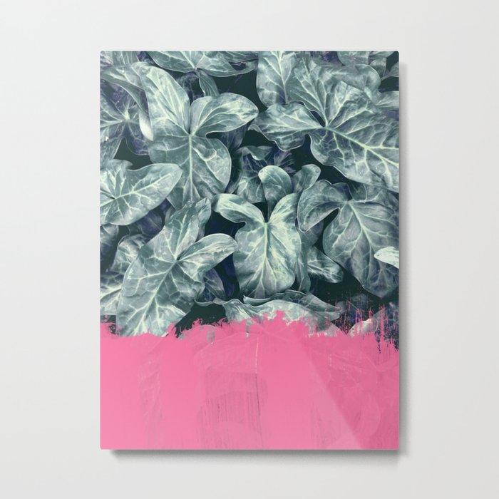 Pink Sorbet on Jungle Metal Print