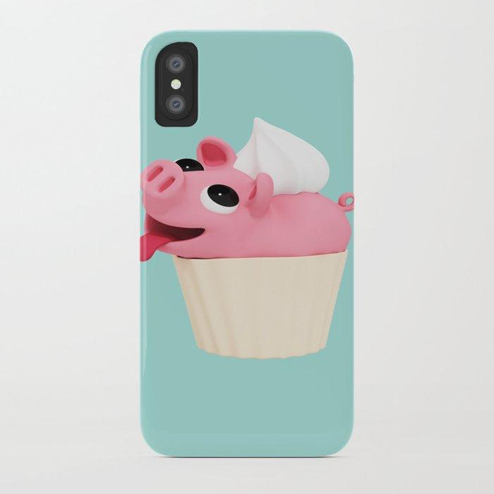 Rosa Cupcake blue iPhone Case
