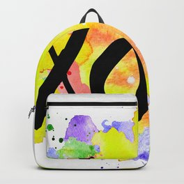 kisses and hugs watercolour Backpack