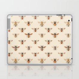 Vintage Bee Illustration Pattern Laptop & iPad Skin
