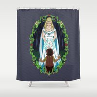 thranduil Shower Curtains featuring The Light of Eärendil by Theresa Lammon