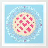 pi Art Prints featuring Pi  by inkextract