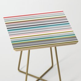 grey and colored stripes Side Table