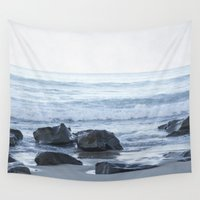 rocky Wall Tapestries featuring Rocky Beach by Pure Nature Photos