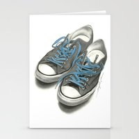 converse Stationery Cards featuring Converse by Anthony Billings