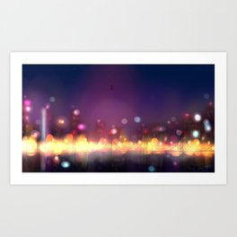 Bookeh City Art Print