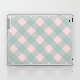 Pink & Mint Checkered Pattern-Mix and Match with Simplicity of Life on #Society6 Laptop & iPad Skin