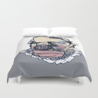 clown Duvet Covers featuring clown by jenapaul